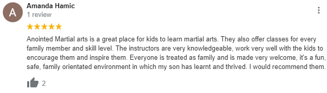 Kids1, Anointed Martial Arts