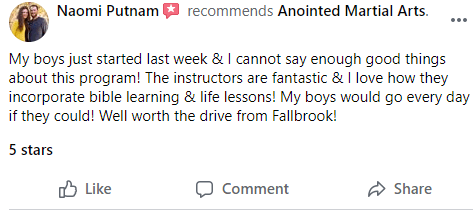 Kids4, Anointed Martial Arts