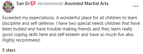 Pre And Kids, Anointed Martial Arts